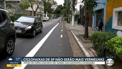 Prefeitura reforma e troca cor das ciclovias em São Paulo