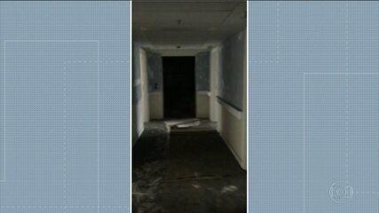 Imagens exclusivas mostram como ficou por dentro do hospital Badim depois do incêndio