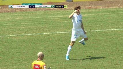 Os gols de Londrina 2 x 1 Coritiba pela 22ª rodada do Campeonato Brasileiro da Série B