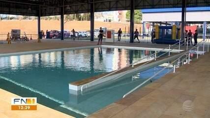 Parte do novo Centro Olímpico é entregue, e primeiro dia depois da inauguração tem vazamento