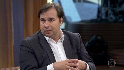 Rodrigo Maia avalia o governo de Jair Bolsonaro