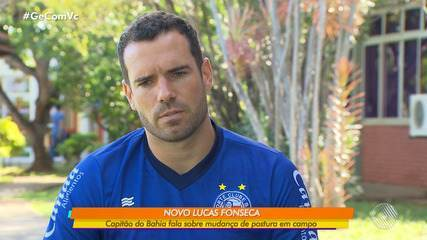 Capitão do Bahia, Lucas Fonseca, fala sobre mudanças de postura em campo