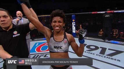 Melhores momentos de Ariane Sorriso x Angela Hill no UFC Cidade do México