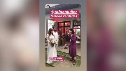 Tainá Muller se emociona depois de abençoar o casamento da irmã com o músico Tomas