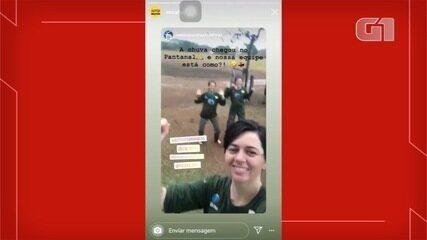 Pesquisadores do Onçafari comemoram chuva na Caiman