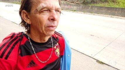 A história de Marivaldo, o torcedor do Sport que anda 60km para ver o time de coração