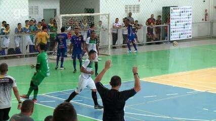 Os gols de JES 1 x 1 AABB pela semifinal do primeiro turno do Piauiense de futsal