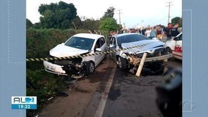 Acidente em Arapiraca deixa dois mortos e 10 feridos