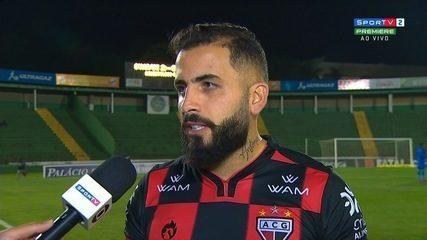 André Castro lamenta derrota do Atlético-GO para o Guarani