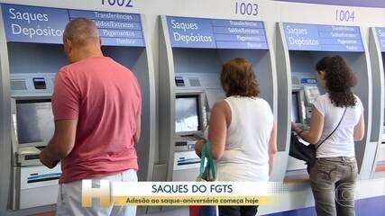 Saques do FGTS: adesão ao saque-aniversário começa nesta terça-feira (1)