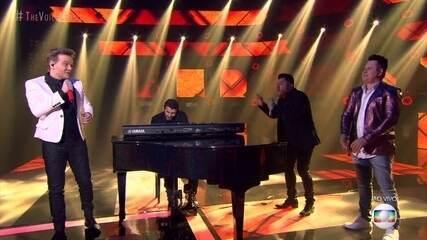 """Michel Teló e Bruno & Marrone cantam """"Por Um Minuto"""""""