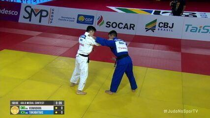 Allan Kuwabara leva medalha de ouro na categoria 60kg do Grand Slam de Brasília de judô