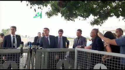 O presidente Jair Bolsonaro disse que poças de óleo no Nordeste podem ter origem criminosa