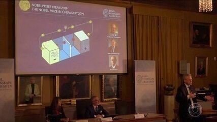 Nobel de Química vai para trio que desenvolveu baterias de íons de lítio