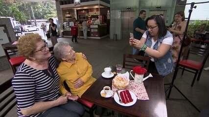 Fora da TV há cinco anos, Palmirinha empreende e associa imagem a rede de cafeterias
