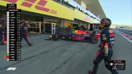 Verstappen deixa a corrida