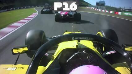 Todas as ultrapassagens de Daniel Ricciardo no GP do Japão