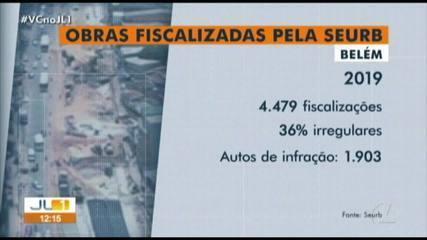 Cerca de 40% dos prédios fiscalizados pela Seurb em Belém estão irregulares