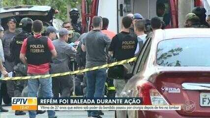 Mulher feita refém passou por cirurgia após ser baleada em Campinas