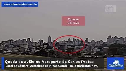 Vídeo mostra queda de avião em Belo Horizonte