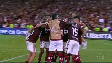 Gabigol marca dois e Bruno Henrique um em goleada do Flamengo sobre Grêmio na semifinal da Libertadores de 2019