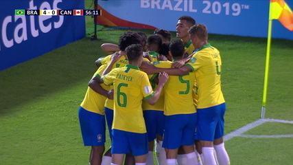 Os gols de Brasil 4 x 1 Canadá pela Copa do Mundo Sub-17