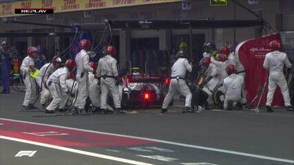 Equipe deixa roda solta, e Giovinazzi perde tempo nos boxes