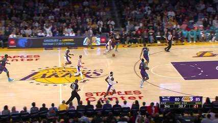 Melhores Momentos: Los Angeles Lakers 120 x 101 Charlotte Hornets pela NBA