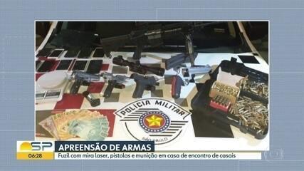 Polícia Militar apreende armas em casa de encontro de casais no Centro de São Paulo