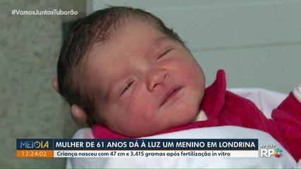 Mulher de 61 anos dá à luz um menino em Londrina