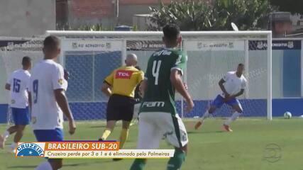 Cruzeiro perde para o Palmeiras e está eliminado do Campeonato Brasileiro sub-20