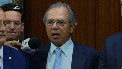 Paulo Guedes discursa na entrega do pacote econômico ao Congresso