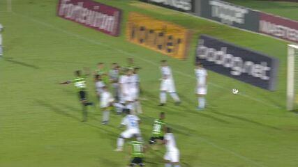 O gol de Londrina 0 x 1 América-MG, pela Série B do Campeonato Brasileiro