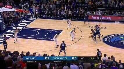 Melhores momentos: Minnesota Timberwolves 125 x 119 Golden State Warriors pela NBA