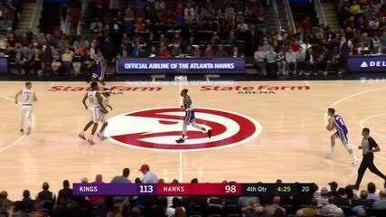Melhores momentos: Sacramento Kings 121 x 109 Atlanta Hawks pela NBA