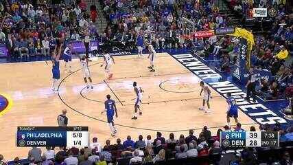 Melhores momentos: Denver Nuggets 100 x 97 Philadelphia 76ers pela NBA