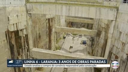 Obras da Linha 6 - Laranja estão paradas há três anos