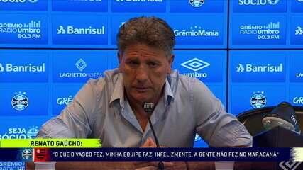 """Renato Gaúcho diz: """"O que o Vasco fez, a minha equipe também faz"""""""