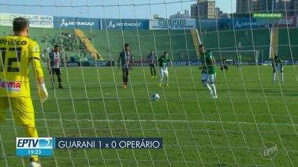 Guarani vence Operário e se garante na Série B para 2020
