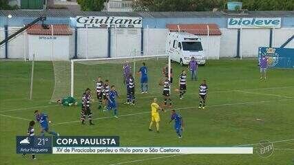 XV de Piracicaba empata com São Caetano e fica com o vice na Copa Paulista