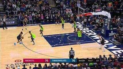 Melhores momentos: Minnesota Timberwolves 105 X 125 Houston Rockets, pela NBA