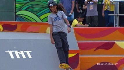Confira a melhor volta de Fadinha (Rayssa Leal) no Street Feminino do STU Open Skate