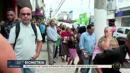 Muitos eleitores de Caxias não conseguem agendar biometria e enfrentam filas