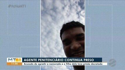 Agente penitenciário gravou vídeo-selfie com a criança