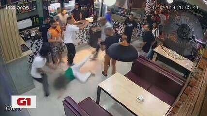 G1 no BDMG: Mulher é agredida por homem em bar de Belo Horizonte