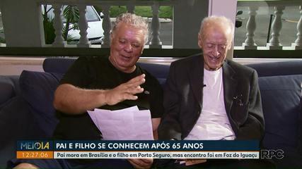 Pai e filho se conhecem após 65 anos