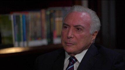 Andréia Sadi entrevista o ex-presidente de República Michel Temer