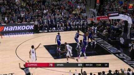Melhores momentos: San Antonio Spurs 107 x 97 Los Angeles Clippers