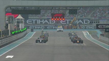Veja a largada do GP de Abu Dhabi