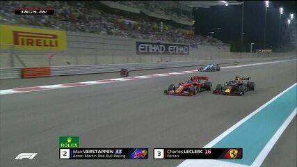 Bela briga pela 2ª colocação! Verstappen consegue linda ultrapassagem sobre Leclerc